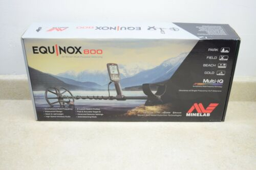 """Minelab Equinox 800 Metal Detector with EQX 11"""" Double-D Waterproof Coil - NEW"""
