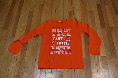 US LADIES DON'T LET YOUR PAST DICTATE YOUR FUTURE L/S TEE ORANGE SIZE LARGE (Don T Let Your Past Dictate Your Future)