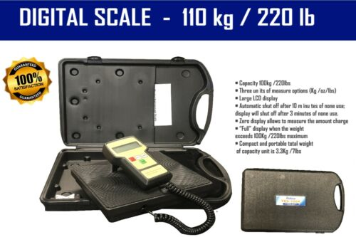 Electronic Refrigerant Charging Digital Weight Scale with Case - TDS100K