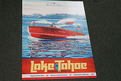 2016 signed poster from the Lake Tahoe Wooden Boat Concours by Roy E. Dryer III