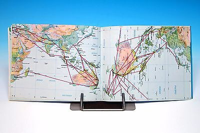 Airline Route Map 1969 Plus Postcards - Airline World Flight Map - Original