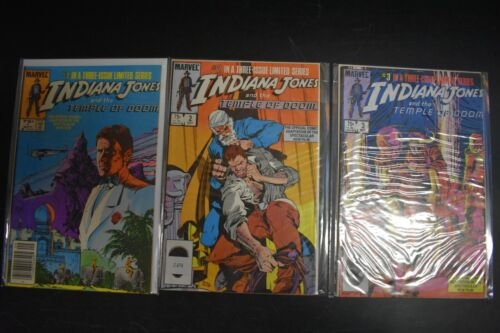 Indiana Jones and the Temple of Doom #1-3 Complete Marvel Set 1984 Adaptation
