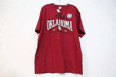 FRUIT OF THE LOOM RUSSELL ATHLETIC BOWL OKLAHOMA UNIVERSITY 2014 TEE RED XL NEW - Red Fruit Bowl