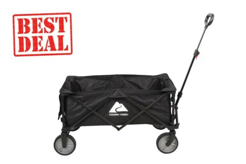 Ozark Trail Folding Multipurpose Camp Wagon Cart, Black