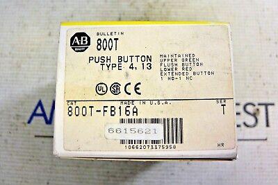 ALLEN BRADLEY 800T-FB16A PUSH BUTTON  UPPER GREEN FLUSH LOWER RED EXTENDED