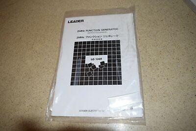 Leader 2mhz Lg 1301 Function Generator Instruction Manual M295