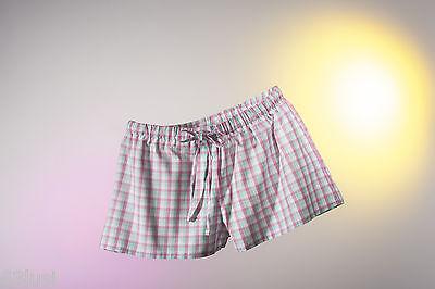 Pyjama Schlaf Shorts (Nina von C. like it! Everyday Schlafhose Pyjamahose Shorts kariert 100%Baumwolle)