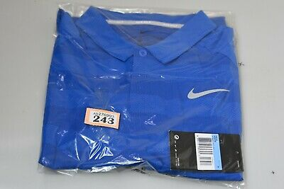 Mens Nike Golf Zonal Cooling Polo Blue Standard Fit M (O tag243)