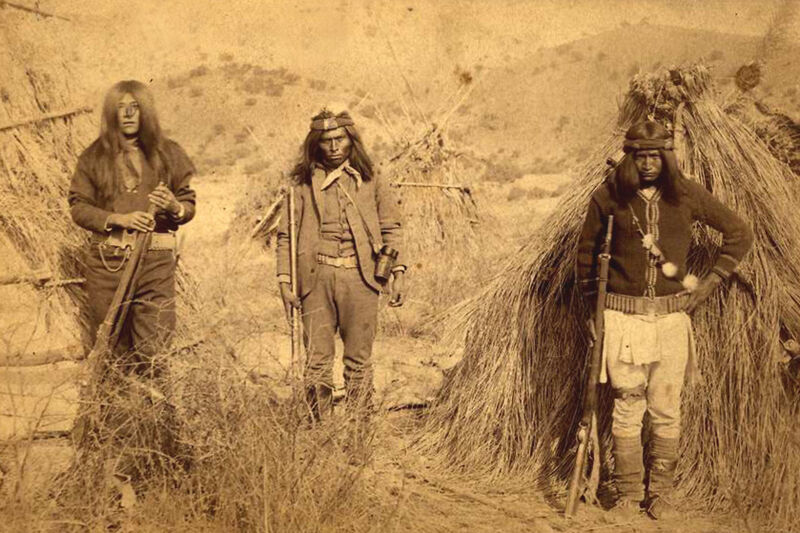 Apache warriors-Center is Apache Kid while he was a Sergeant for U.S Army- 1880