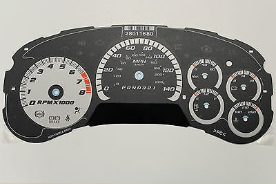 NEW OEM TRAILBLAZER SS 140mph SPEEDOMETER CLUSTER GAUGE FACE APPLIQUE WITH DIC