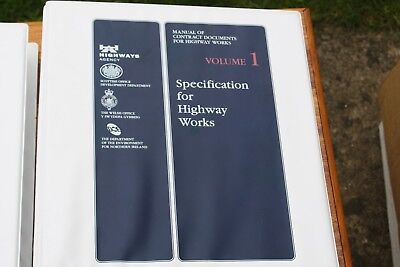 Manual of Contract Documents for Highway Works Vols 1 to 4 - 1998: