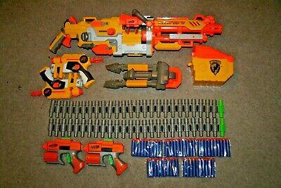 NERF Vulcan EBF-25 Blaster N-Strike Dart Machine Gun Complete Set + Darts Extras