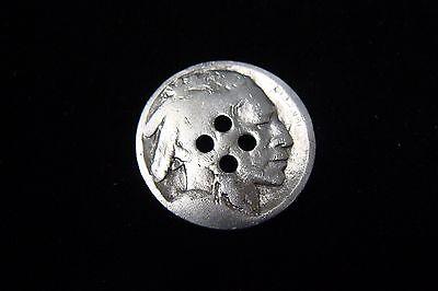 10 Buffalo Nickel 4 Hole Buttons - Very Neat!!!
