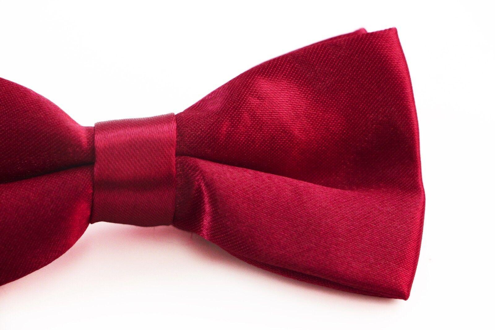 BOYS MAROON RED BOW TIE Wedding Little Baby Toddler Kids Adjustable Pretied