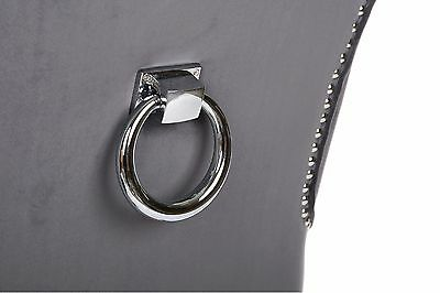 Ring Knocker Handle Chair Furniture Back Decoration Polished Chrome Metal 100mm