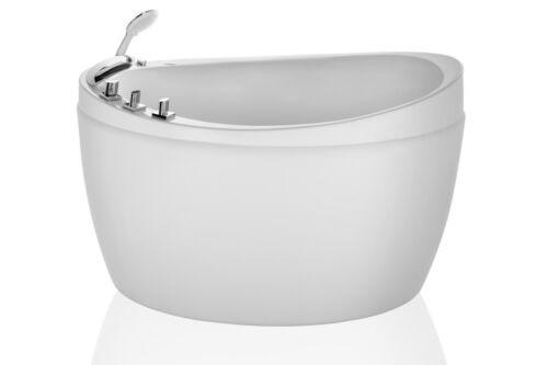 "Empava 48"" Freestanding Air Jets Jacuzzi Massage Bathtubs White Acrylic SPA Tub"