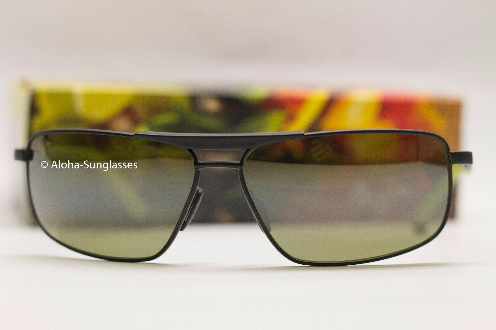NEW Maui Jim Keanu Matte Black Green Polarized Lenses Sungla
