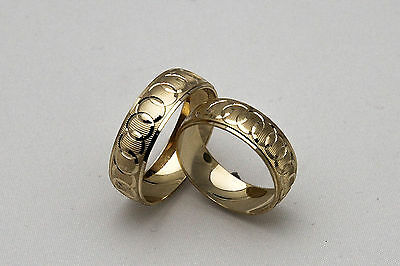 Gold Wedding Band Set - 10K SOLID YELLOW GOLD HIS AND HER WEDDING BAND RING SET SZ 4-15 FREE ENGRAVING