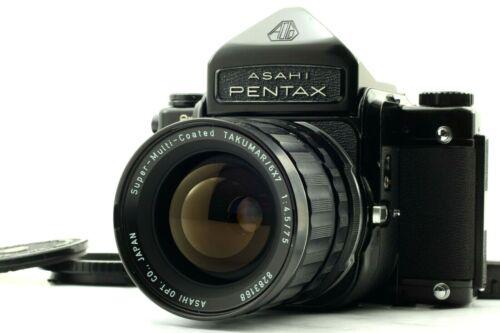 【Exc+5】Pentax 6x7 67 Eye Level Finder  w/ TAKUMAR 6x7 75mm f/4.5 Lens from JAPAN