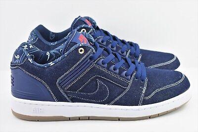 premium selection 0e80c 0b81d Nike SB Air Force II 2 Low Denim Mens Size 8 Shoes Rivals Pack AO0298 441