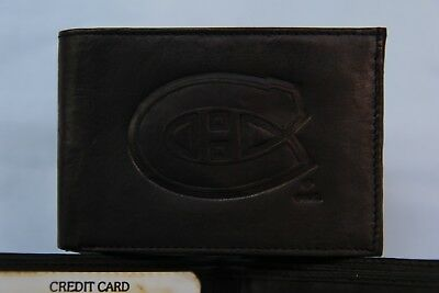 MONTREAL CANADIENS   Leather BiFold Wallet   NEW  black 2 sb Montreal Canadiens Leather