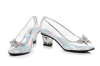 Clear Glass Slippers Disney Princess Cinderella Costume Shoes Girls Toddler 9 10](Toddler Glass Slippers)