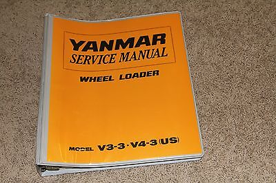 Yanmar V3-3 V4-3 Wheel Loader Service Manual