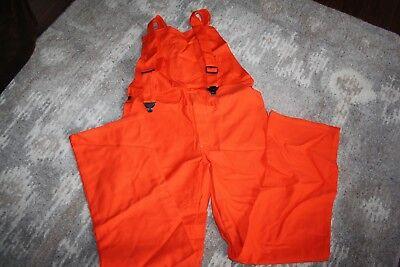 Itex Banox Fr3 Flame Resistant Orange Bib Bibs Pants Size 36 X 36