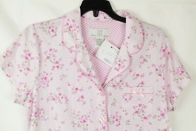 Karen Neuburger Women's Pink Floral Short Sleeve Pajama Top Size S