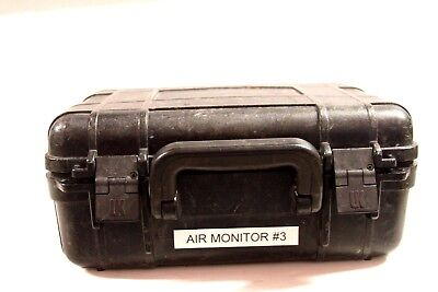 Uk Handheld Black Hard Plastic Air Monitor Photoionization Case Used Case Only