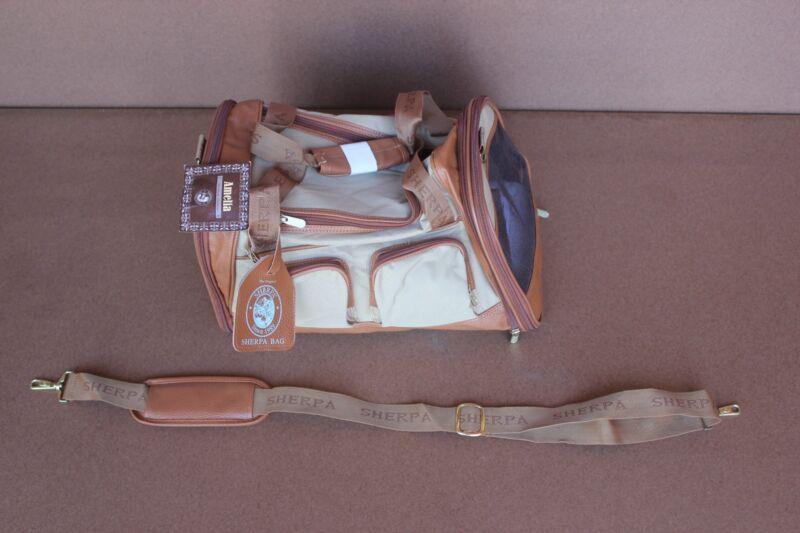 Sherpa 66237 Amelia Pet Dog Cat Carrier Medium Tan with Sand Trim Storage VIP