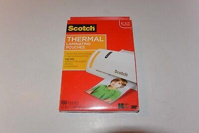 Scotch Thermal Laminating Pouches 5 X 7 Inches Scotch Photo Size 100 Pouches