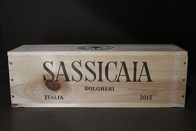 Sassicaia 2015 Magnum in cassa di legno - Miglior Vino al Mondo Wine Spectator