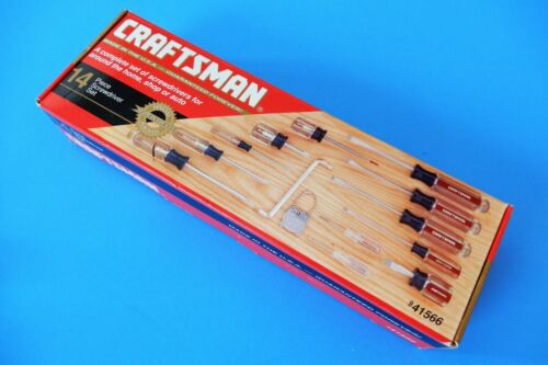 Vintage NOS Craftsman 14-pc Phillips & Slotted Screwdriver Set 9-41566 USA NEW !