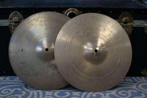 1960s 1970s Zildjian A Hi Hat Cymbals 1243g 1368g