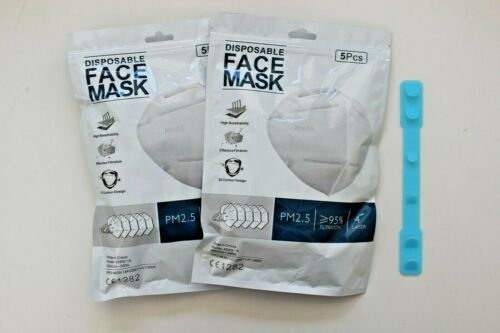 [100 pcs] - KN95 Disposable Respirator Face Mask - FFP2 CE Certified