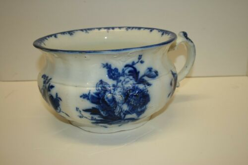 Antique Florentine Chamber Pot England - Blue & White