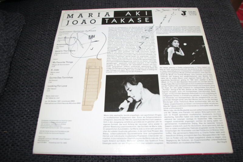 MARIA JOAO & AKI TAKASE signed signiert Autogramme auf Vinyl Platte LP InPerson