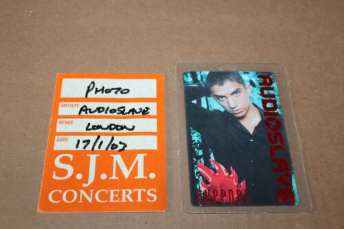 Audioslave  - Laminated Backstage Pass + pass Lot # 1 -FREE POSTAGE Chris Cornel