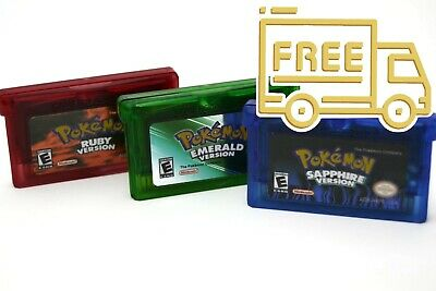 FREE SHIPPING - Pokemon Ruby, Emerald and Sapphire - GBA USA Seller