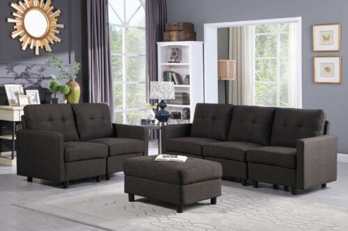 Contemporary Sofa Set 5 Seats Modern Sectional Sofa Living R