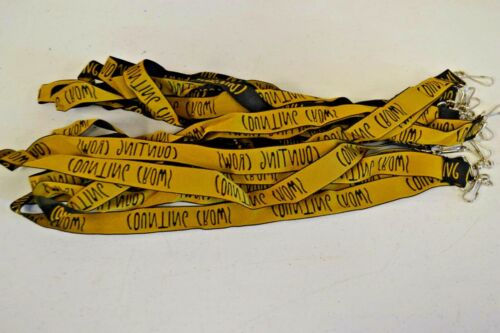 Counting Crows Concert Black/Gold Lanyard Keychains LOT of 10