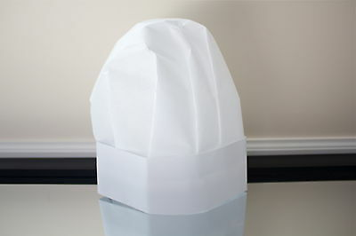5 Pack Of Flared Top Disposable Paper Chef Hats Free Shipping