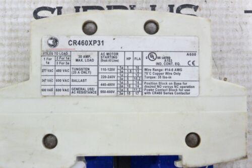 CR460XP31 GE LIGHTING CONTACTOR 1 POLE 30 AMP MAX
