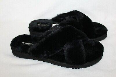 NIB UGG Koolaburra Women's Fluff Slide Slipper Sandals Black 7 8 9 10 11