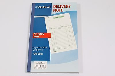 GUILDHALL '100 SET' DUPLICATE CARBONLESS DELIVERY NOTE BOOKS. PRE-PRINTED PAPER. Delivery Note Set