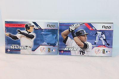Derek Jeter Hideki Matsui 2003 Flipp Books Vg And New Sealed Condition Yankees