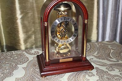 FRANZ HERMLE 14 Day Skeleton Chime Clock German 791-081 Vintage