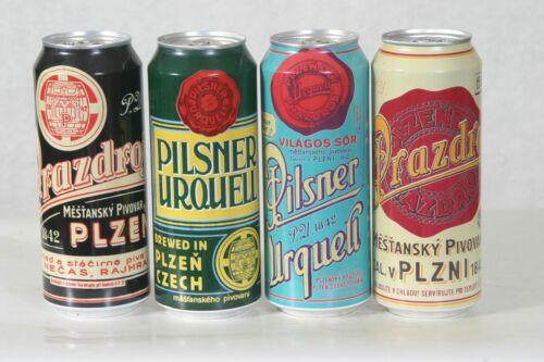 4 Pilsner Urquell Beer Cans