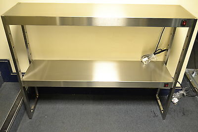 NEW LS2B S/S 8 LAMP TABLE TOP 2 TIER HEATED GANTRY LIGHT PASS THROUGH